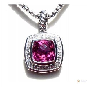 "DY Pink Tournament Diamond Necklace 17"""
